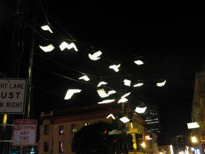 textbooks flying away